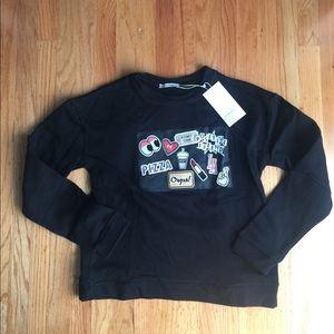 Zara Graphic crew neck sweatshirt
